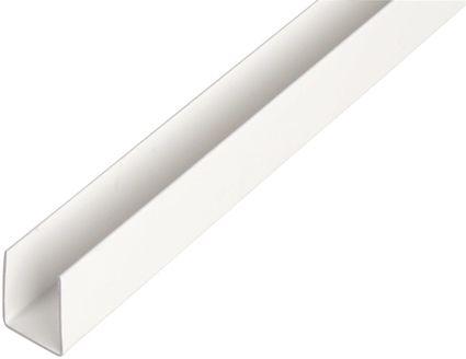 U-profiili Muovi Valkoinen 21 x 20 x 1000 mm