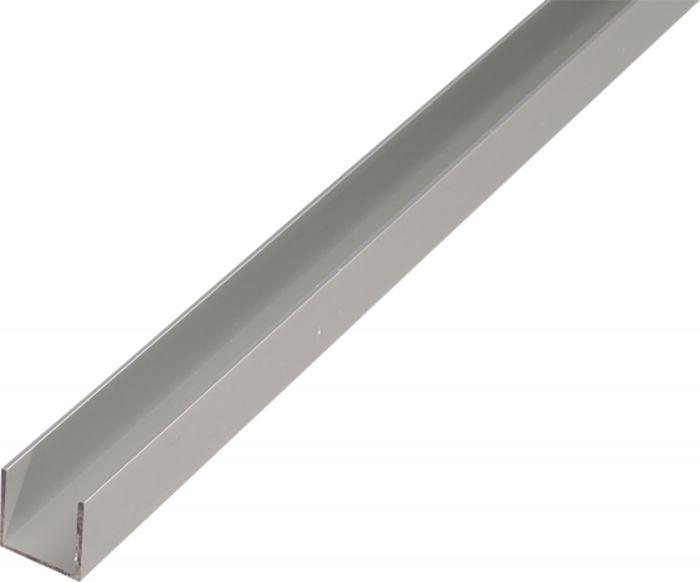 U-Lista Kantoflex Alumiini 20 x 8 x 1 mm 2 m