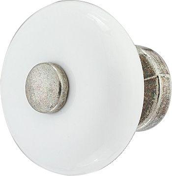 Nuppi Häfele Valkoinen/Sinkitty 25 mm
