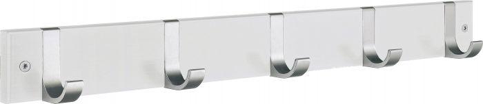 Naulakko Beslagsboden 5-os. BX1076 Valkoinen/Harjattu Alumiini