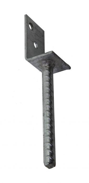 L-pilarikenkä 40 x 50 x 80 mm Kuumasinkitty