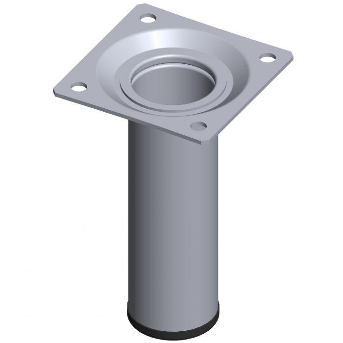 Teräsputkijalka Element System Pyöreä Kromi 100 mm ⌀ 30 mm