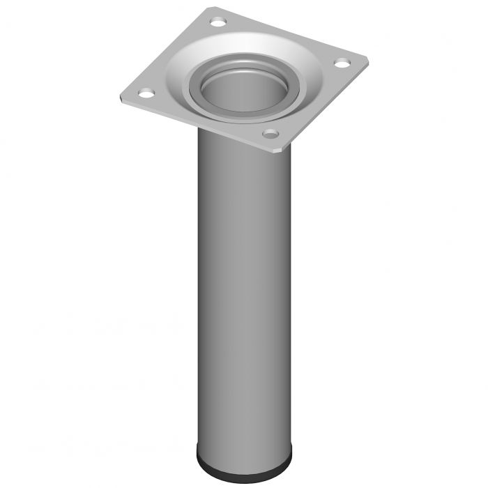 Teräsputkijalka Element System Pyöreä Harmaa Alumiini 150 mm ⌀ 30 mm