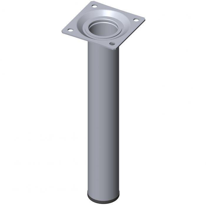 Teräsputkijalka Element System Pyöreä Kromi 200 mm ⌀ 30 mm