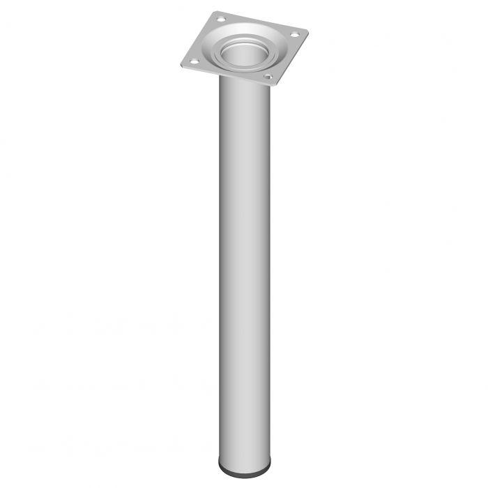 Teräsputkijalka Element System Pyöreä Valkoinen 300 mm ⌀ 30 mm