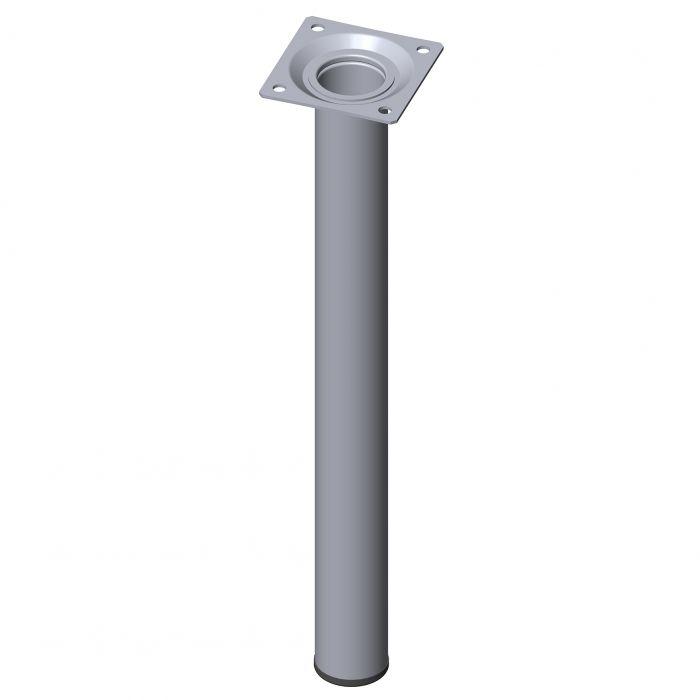 Teräsputkijalka Element System Pyöreä Kromi 300 mm ⌀ 30 mm