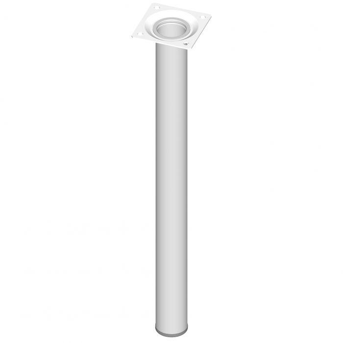 Teräsputkijalka Element System Pyöreä Valkoinen 400 mm ⌀ 30 mm