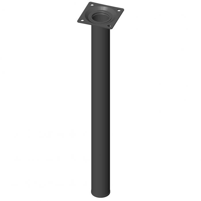 Teräsputkijalka Element System Pyöreä Musta 400 mm ⌀ 30 mm