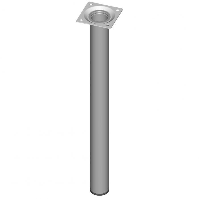 Teräsputkijalka Element System Pyöreä Valkoinen alumiini 400 mm ⌀ 30 mm