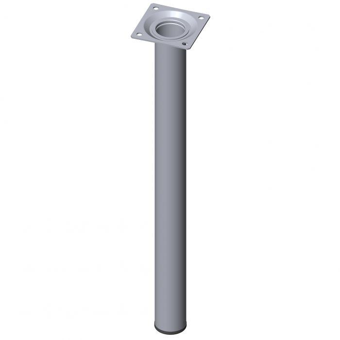 Teräsputkijalka Element System Pyöreä Kromi 400 mm ⌀ 30 mm