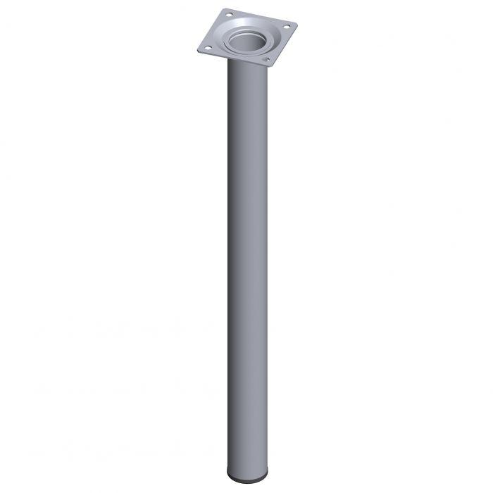 Teräsputkijalka Element System Pyöreä Kromi 500 mm ⌀ 30 mm