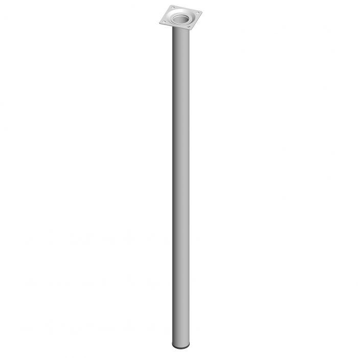 Teräsputkijalka Element System Pyöreä Valkoinen 700 mm ⌀ 30 mm