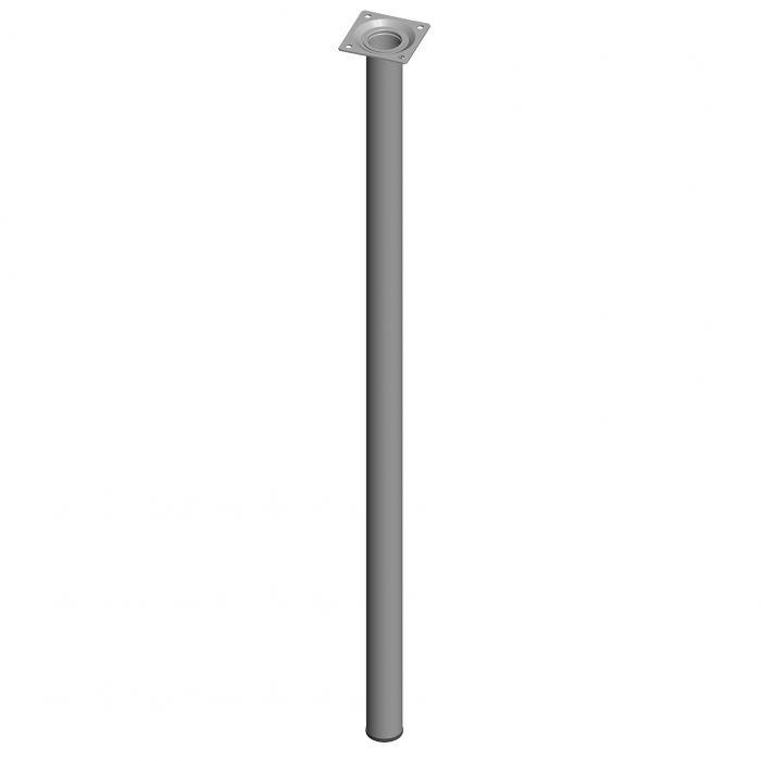 Teräsputkijalka Element System Pyöreä Valkoinen alumiini 700 mm ⌀ 30 mm