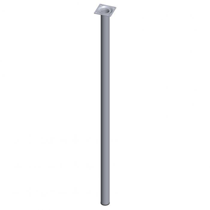 Teräsputkijalka Element System Pyöreä Kromi 800 mm ⌀ 30 mm