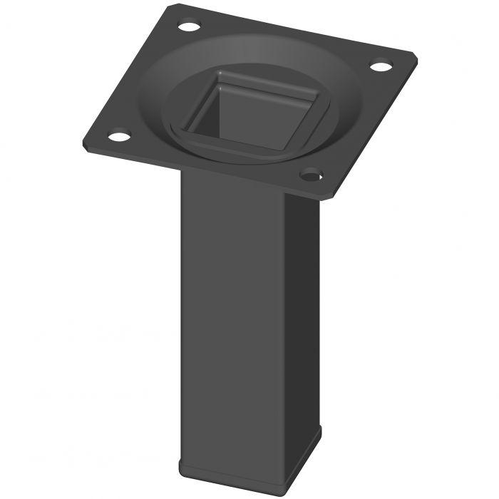 Teräsputkijalka Element System Neliö Musta 100 mm 25 x 25 mm