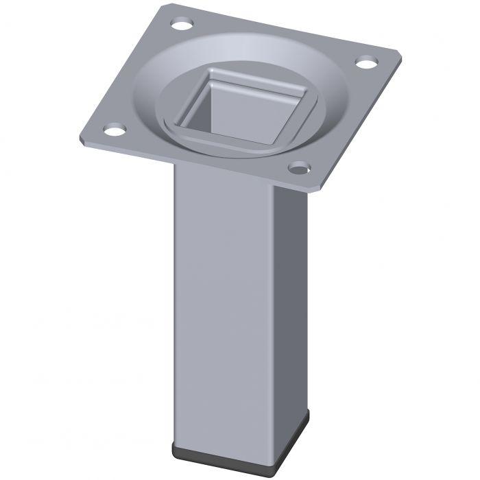 Teräsputkijalka Element System Neliö Kromi 100 mm 25 x 25 mm