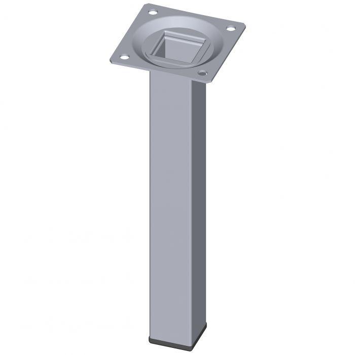 Teräsputkijalka Element System Neliö Kromi 200 mm 25 x 25 mm