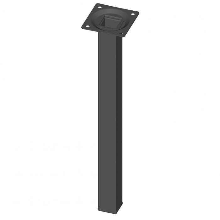 Teräsputkijalka Element System Neliö Musta 300 mm 25 x 25 mm