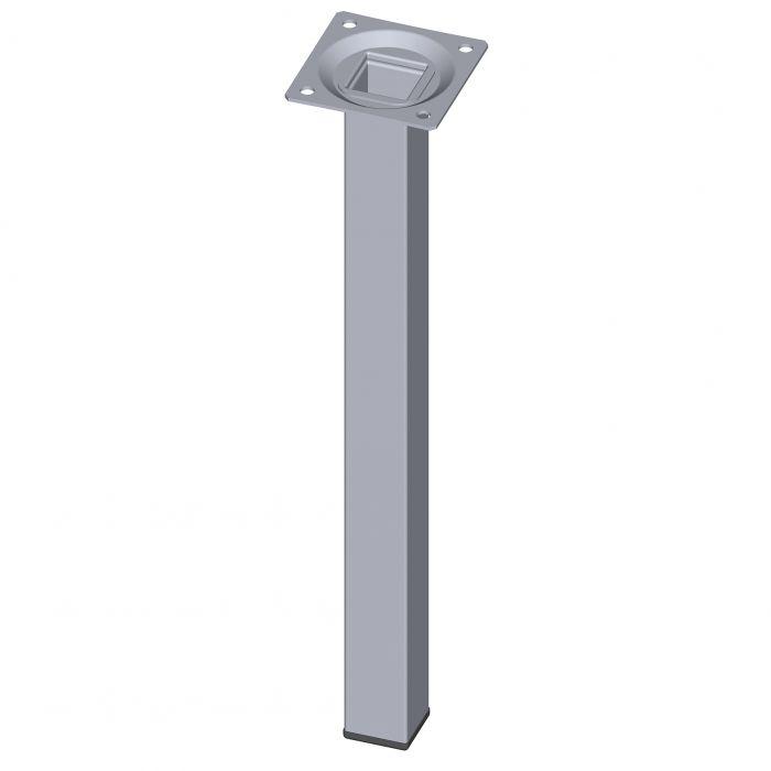 Teräsputkijalka Element System Neliö Kromi 300 mm 25 x 25 mm