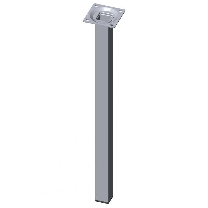 Teräsputkijalka Element System Neliö Kromi 400 mm 25 x 25 mm