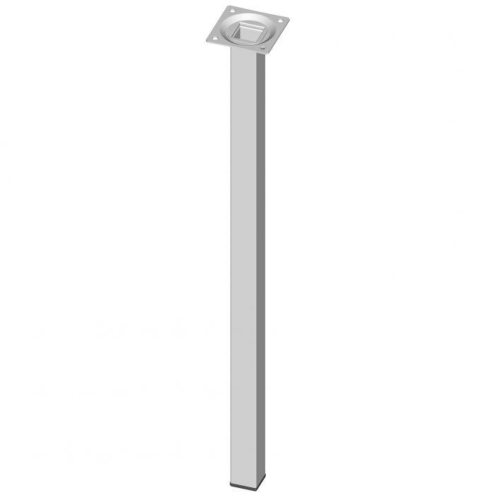 Teräsputkijalka Element System Neliö Valkoinen 500 mm 25 x 25 mm