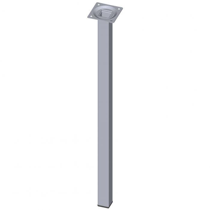 Teräsputkijalka Element System Neliö Kromi 500 mm 25 x 25 mm