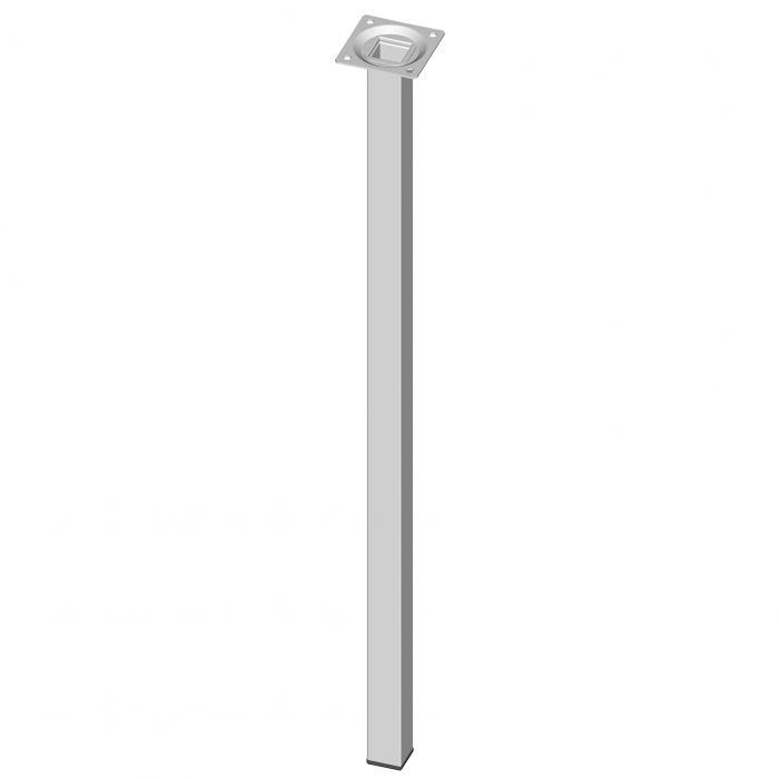 Teräsputkijalka Element System Neliö Valkoinen 600 mm 25 x 25 mm