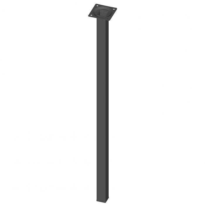 Teräsputkijalka Element System Neliö Musta 600 mm 25 x 25 mm