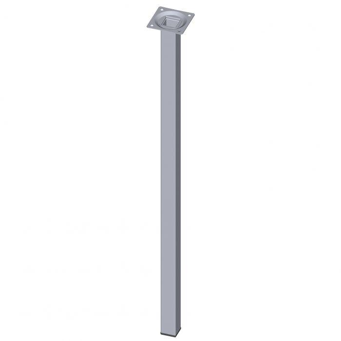 Teräsputkijalka Element System Neliö Kromi 600 mm 25 x 25 mm