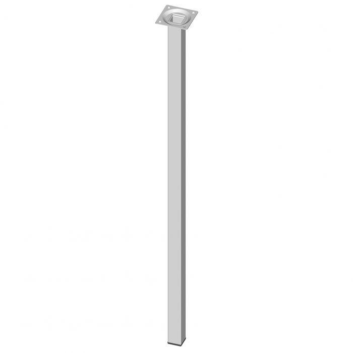 Teräsputkijalka Element System Neliö Valkoinen 700 mm 25 x 25 mm