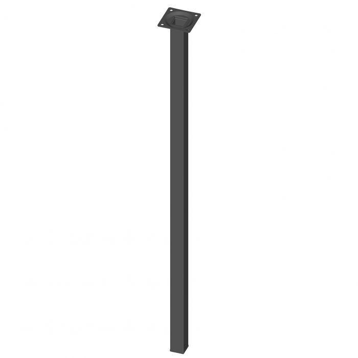 Teräsputkijalka Element System Neliö Musta 700 mm 25 x 25 mm