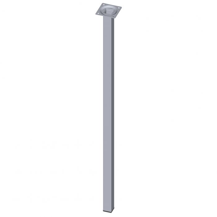 Teräsputkijalka Element System Neliö Kromi 700 mm 25 x 25 mm