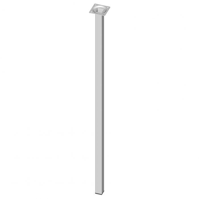 Teräsputkijalka Element System Neliö Valkoinen 800 mm 25 x 25 mm