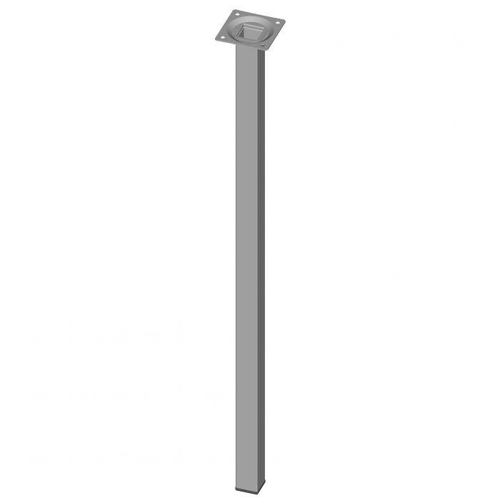 Teräsputkijalka Element System Neliö Valkoinen alumiini 600 mm 25 x 25 mm