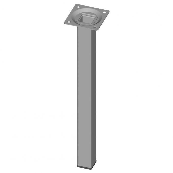 Teräsputkijalka Element System Neliö Valkoinen alumiini 300 mm 25 x 25 mm