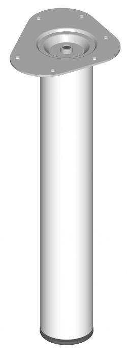 Teräsputkijalka Element System Pyöreä Valkoinen 400 mm ⌀ 60 mm