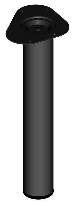 Teräsputkijalka Element System Pyöreä Musta 400 mm ⌀ 60 mm