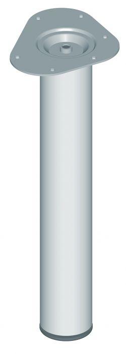 Teräsputkijalka Element System Pyöreä Kromi 400 mm ⌀ 60 mm