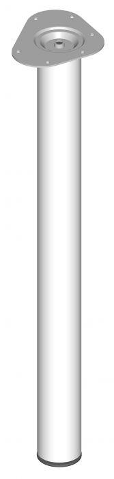 Teräsputkijalka Element System Pyöreä Valkoinen 700 mm Ø 60 mm