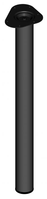 Teräsputkijalka Element System Pyöreä Musta 700 mm ⌀ 60 mm