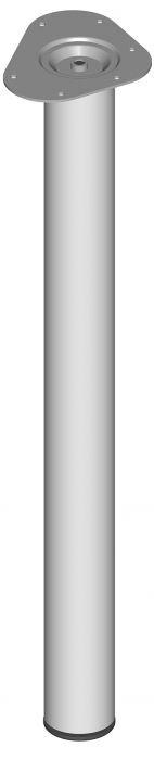 Teräsputkijalka Element System Pyöreä Valkoinen alumiini 700 mm ⌀ 60 mm