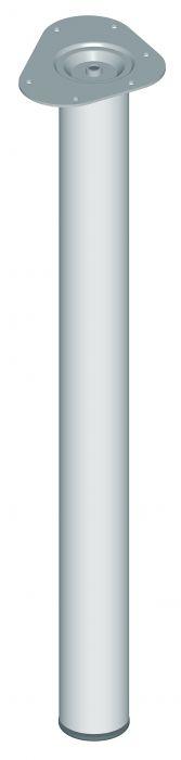 Teräsputkijalka Element System Pyöreä Kromi 700 mm ⌀ 60 mm