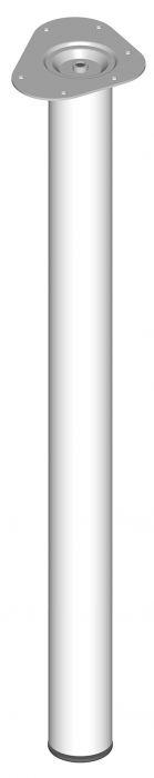 Teräsputkijalka Element System Pyöreä Valkoinen 800 mm ⌀ 60 mm