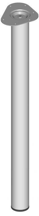 Teräsputkijalka Element System Pyöreä Valkoinen alumiini 800 mm ⌀ 60 mm