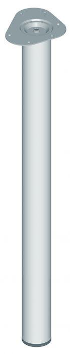 Teräsputkijalka Element System Pyöreä Kromi 800 mm ⌀ 60 mm