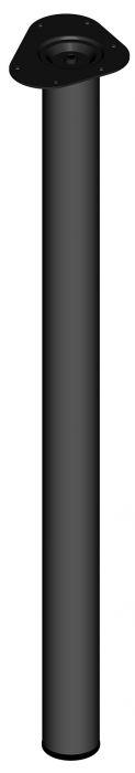 Teräsputkijalka Element System Pyöreä Musta 900 mm ⌀ 60 mm