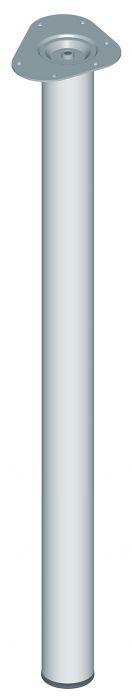 Teräsputkijalka Element System Pyöreä Kromi 900 mm