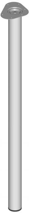 Teräsputkijalka Element System Pyöreä Valkoinen alumiini 1100 mm ⌀ 60 mm