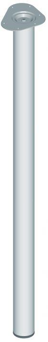 Teräsputkijalka Element System Pyöreä Kromi 1100 mm ⌀ 60 mm