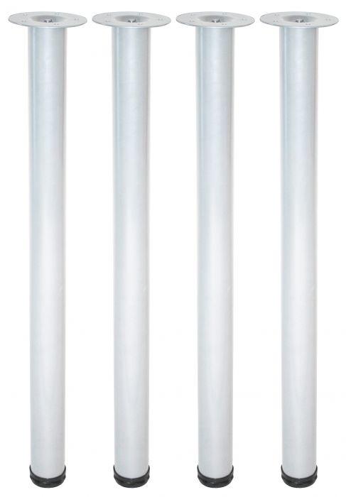 Teräsputkijalkasetti 4 kpl Element System Pyöreä Valkoinen 700 mm ⌀ 60 mm